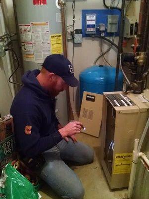 Jeremy Salzbrun inspecting
