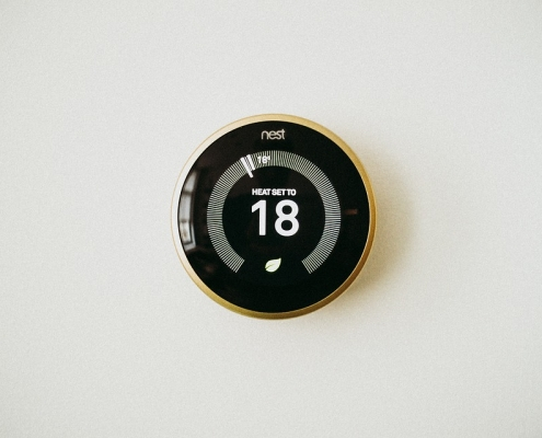 NEST programmable thermostat.