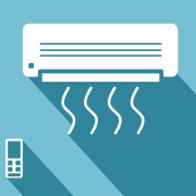 Illustration of ductless mini-split air conditioner