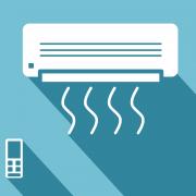Illustration of ductless mini-split air conditioner